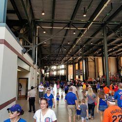 Inside the left-field concourse