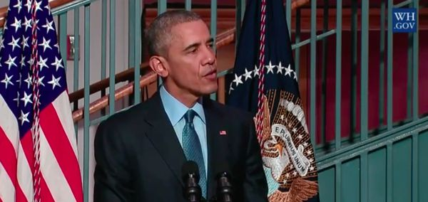 Obama announcing the change