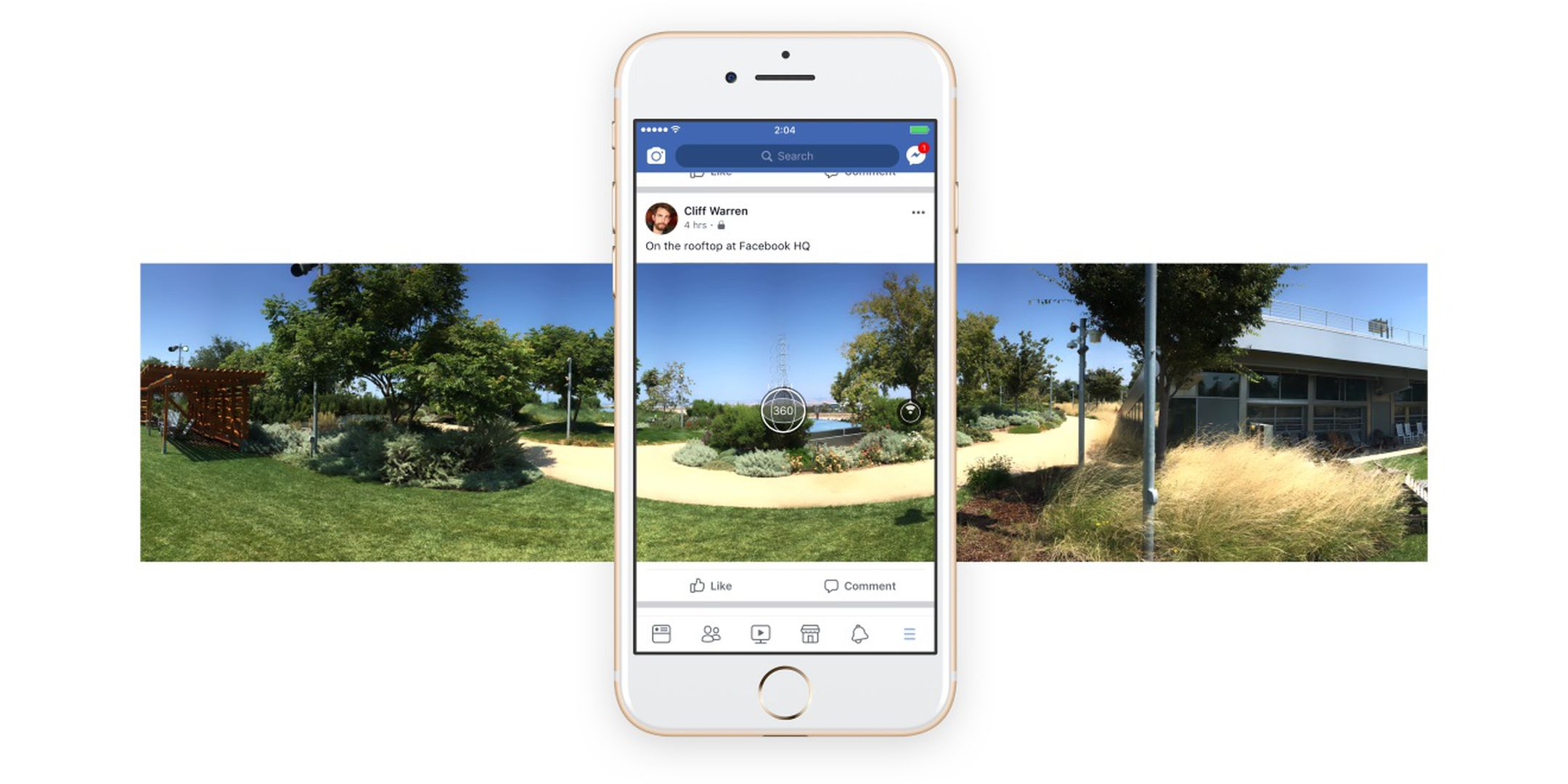 Facebook now lets you shoot 360-degree photos inside its app