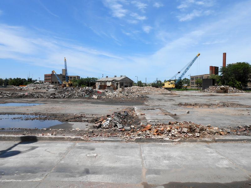 Ruins of the Finkl Steel plant after demolition