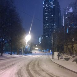 The 15th Street hill near Arts Center MARTA Station wasn't ideal for driving on.