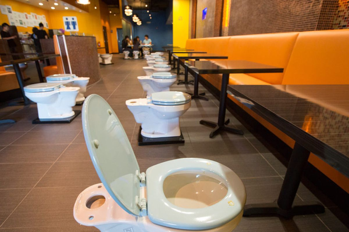 Behold La S Toilet Themed Magic Restroom Cafe Eater
