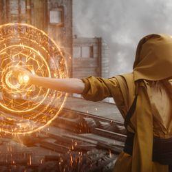 The Ancient One costume / Worn by Tilda Swinton in Doctor Strange 2016<br> © 2017 MARVEL<br><br><br><br>