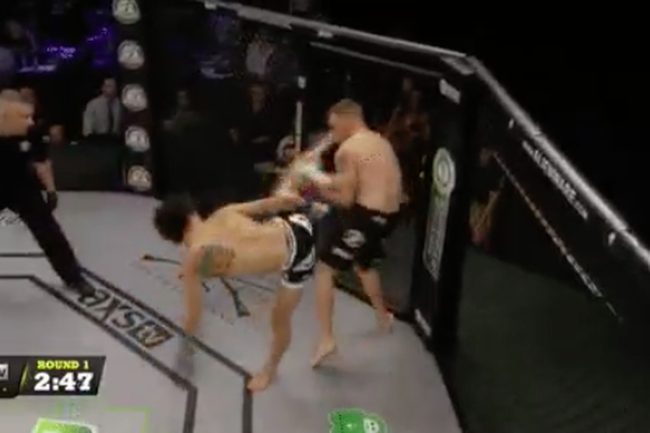 community news, Sean O'Malley uses highlight reel spinning wheel kick to knock out David Nuzzo at LFA 11