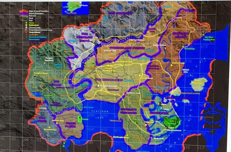 Red Dead Redemption prequel map leak