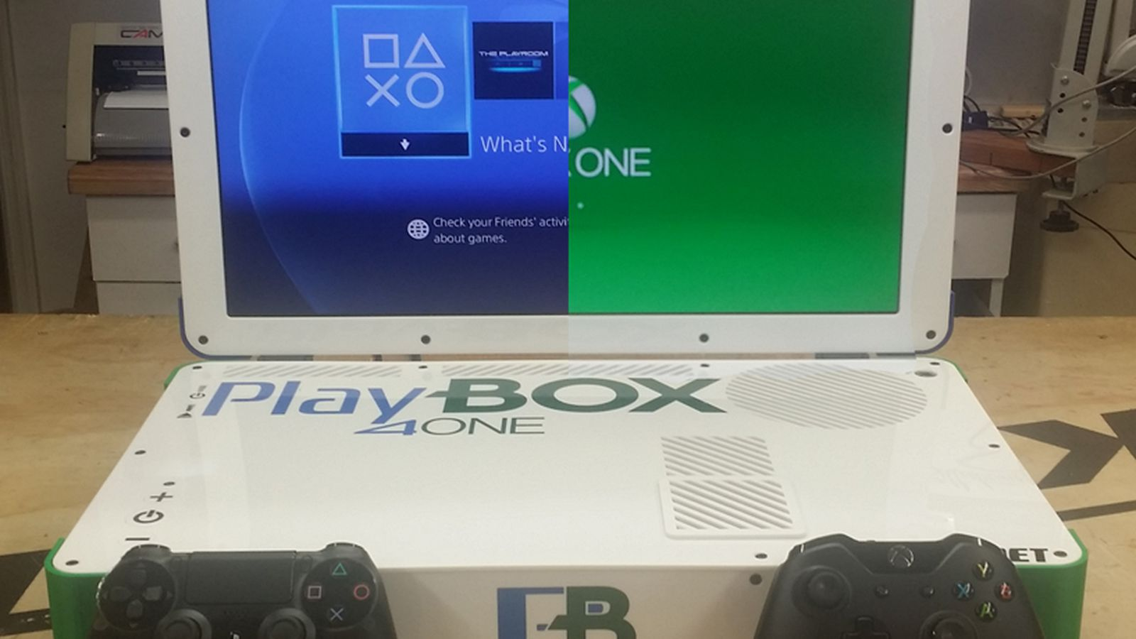 this is what a combined xbox oneplaystation 4 laptop