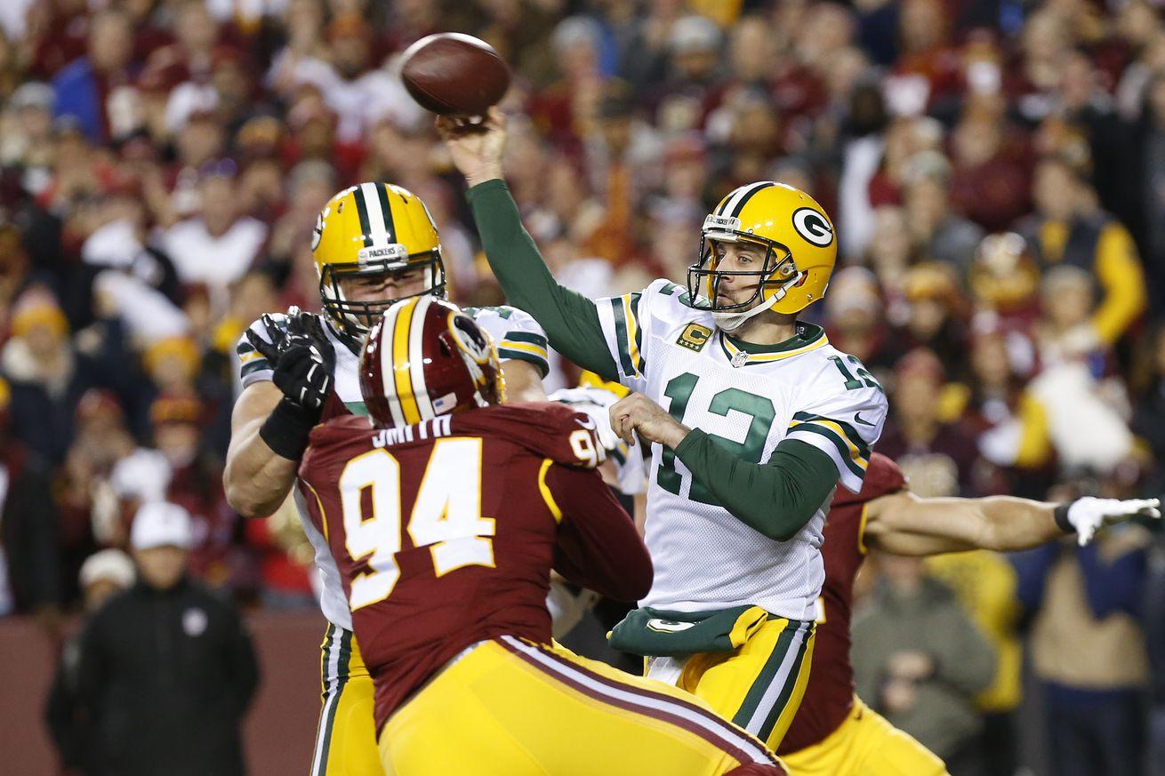 NFL Playoffs: Green Bay starts slow, then routs Washington, 35-18