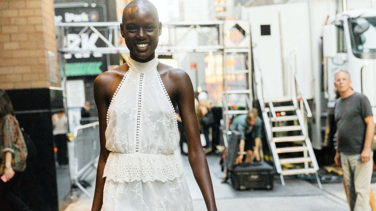 Ajak Deng Returns to Modeling a Week After Announcing Her Retirement
