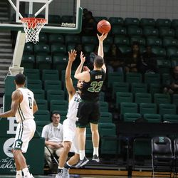 I'm not sure if this is one of the many threes that went it but it seemed like there was a vacuum around the rim for Ohio's three pointers.