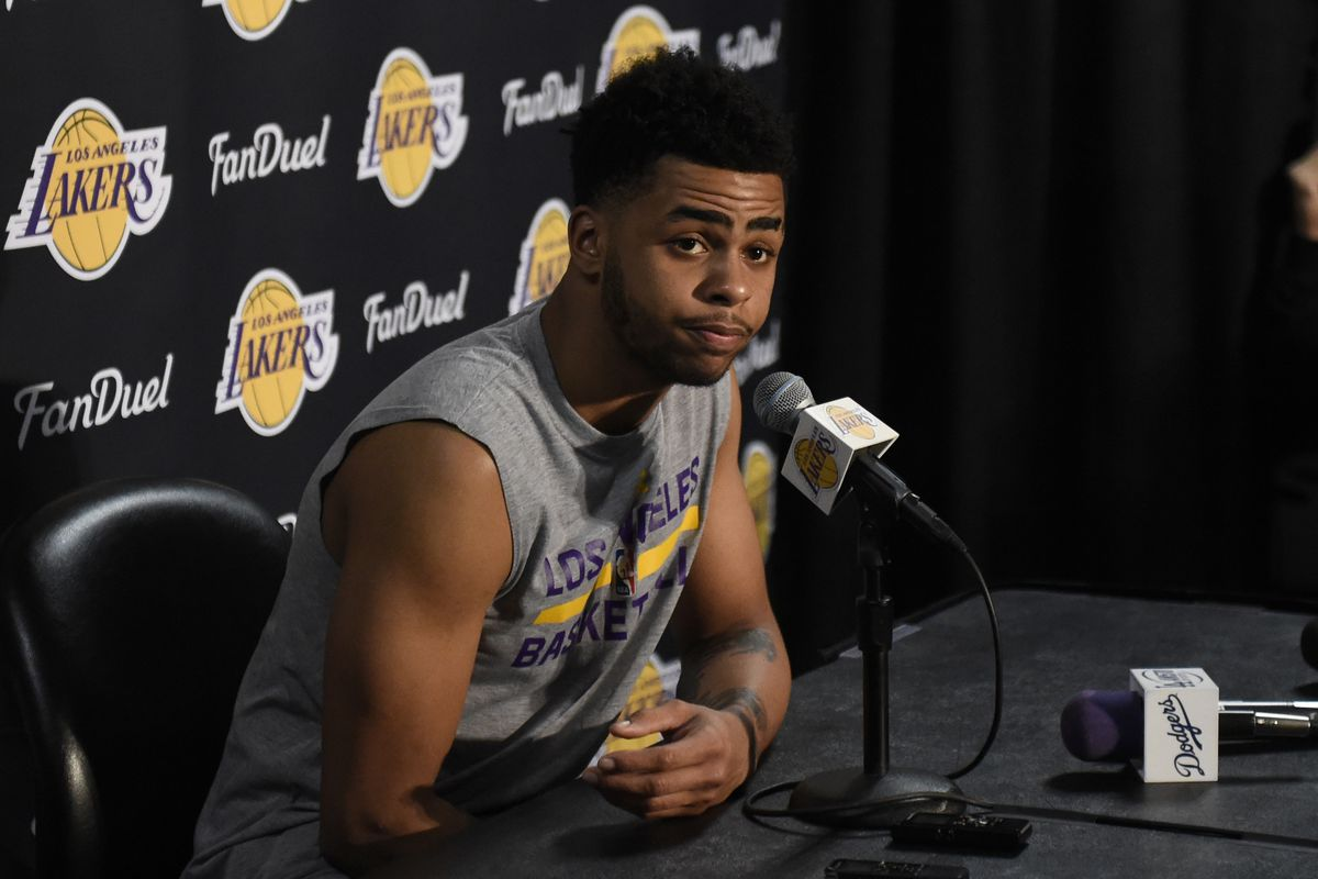 lakers news d angelo russell says anyone who questions his work richard mackson usa today sports