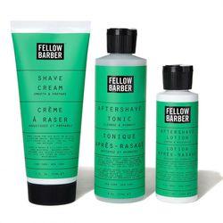 """Fellow Barber <a href=""""http://www.fellowbarber.com/shop/fellow-barber-shave-regime"""">Shave Regime Kit</a> ($64)"""