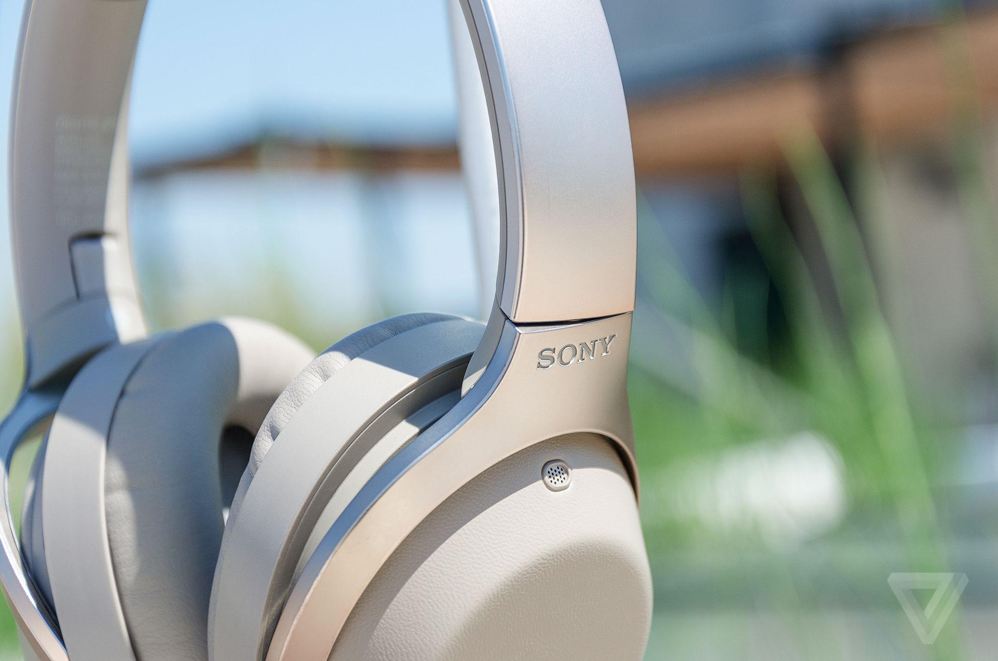 Closeup of MDR-1000X headphones