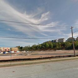The Marietta Road site, a former truck yard, in October.