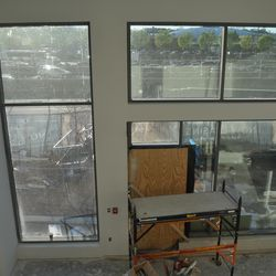 Inside one of the five two-story live-work units fronting Williams Street.