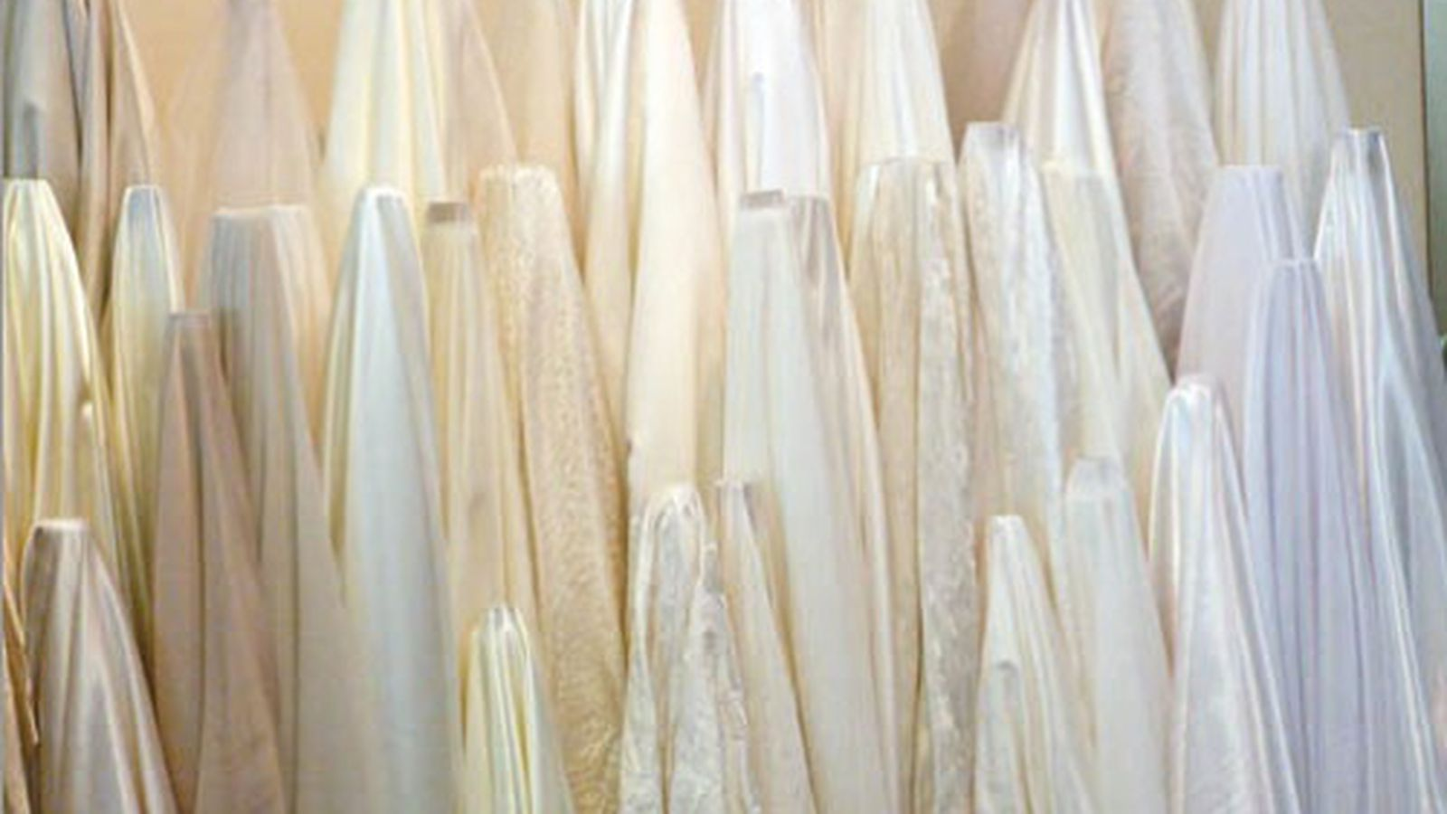 Racked glossary everything you need to know about wedding for Wedding dress fabric guide