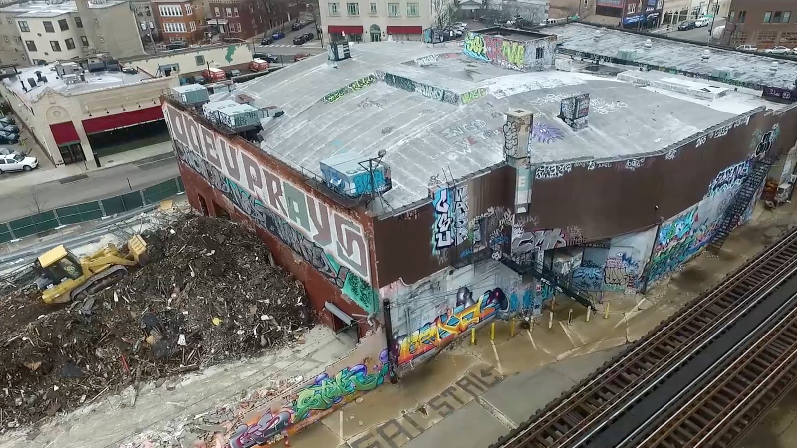 watch the demolition of logan square u2019s infamous mega mall in this new drone video