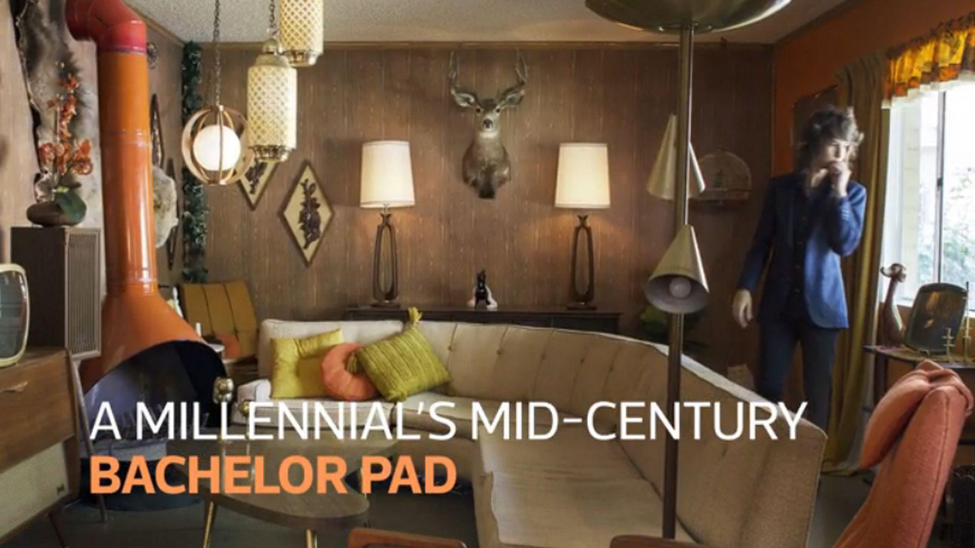 A Millennial Creates Time Capsule Bachelor Pad