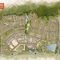 A full site plan of the development.