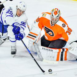 Auston just couldn't get one past Michal Neuvirth