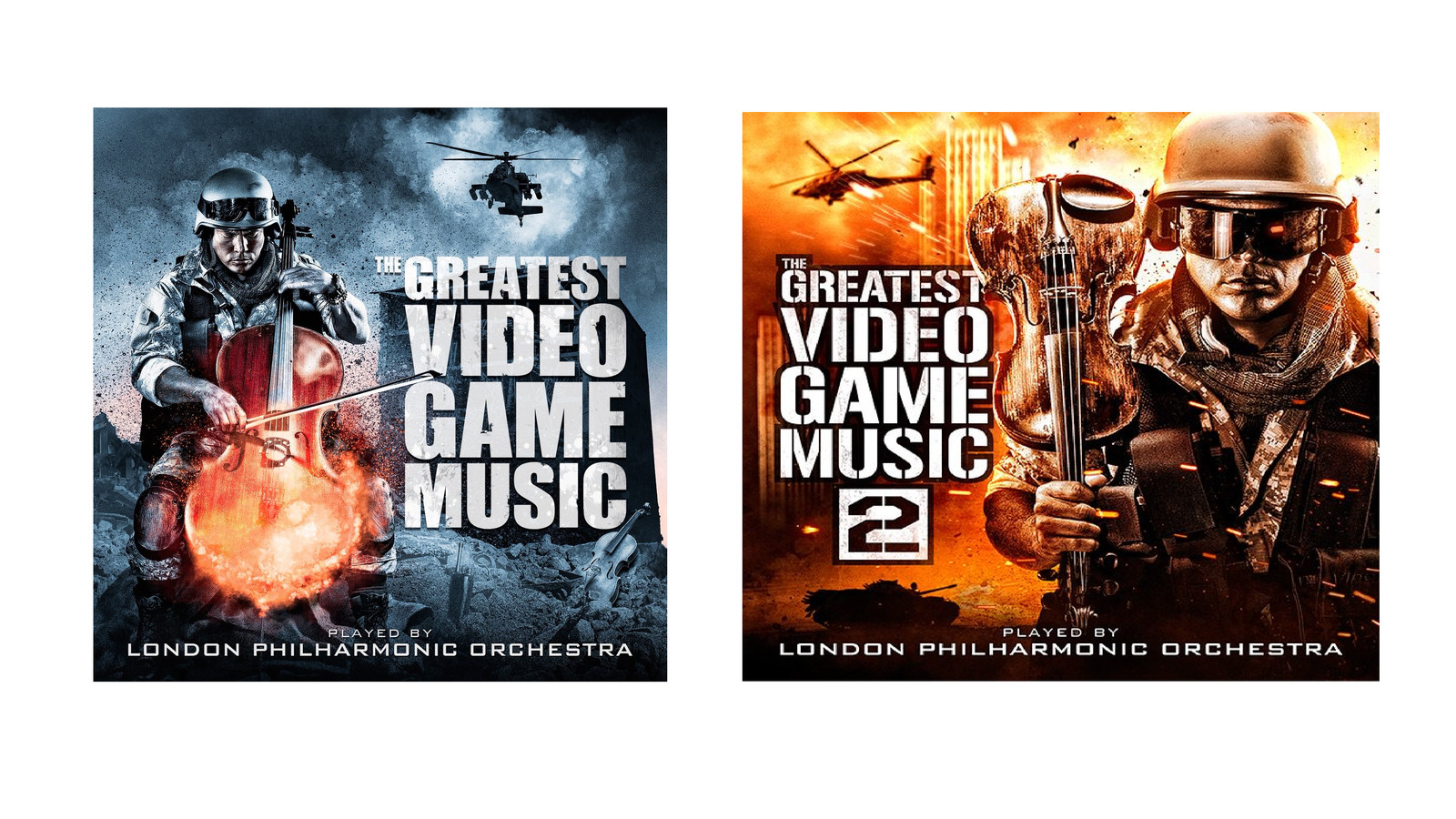 photo image These orchestral video game album covers may be the greatest achievement in visual arts