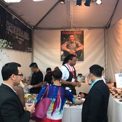 Barbara Jean booth with chef Jason Fullilove