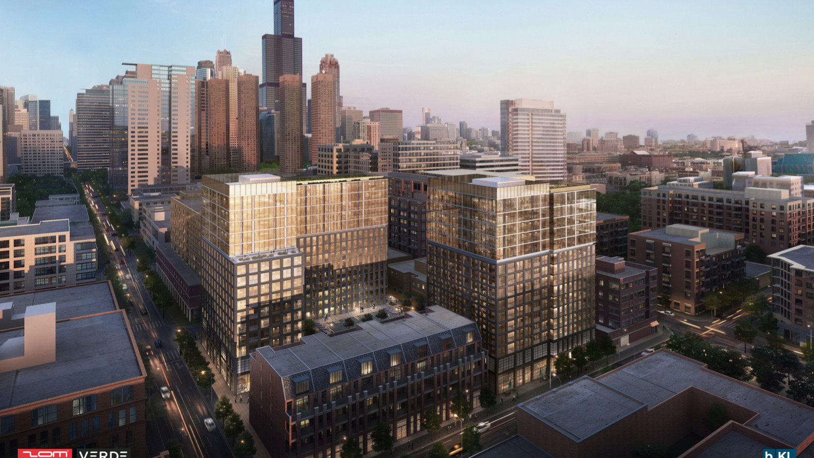 west loop apartment plan gets a haircut adds more parking and retail curbed chicago. Black Bedroom Furniture Sets. Home Design Ideas