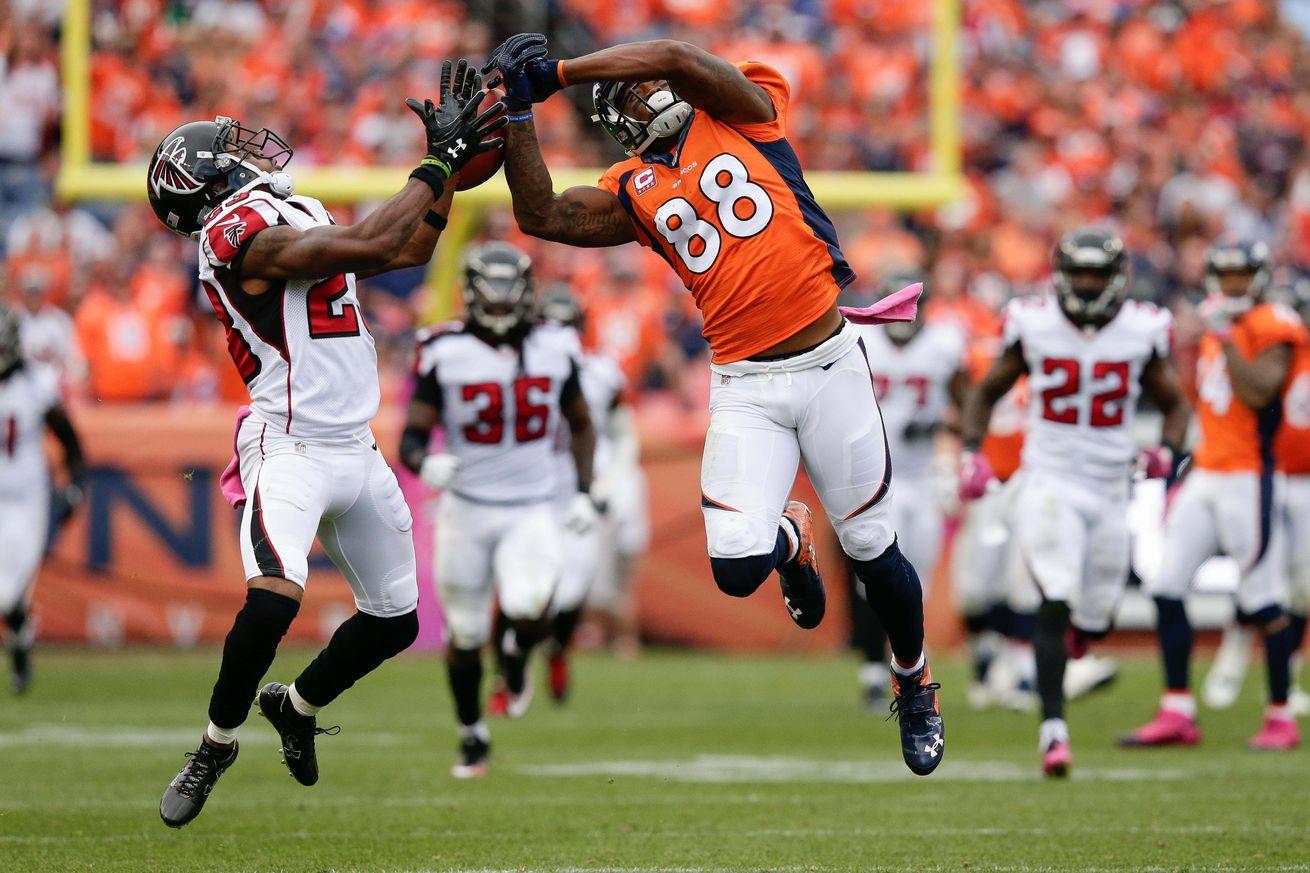 Denver Broncos snap counts against the Atlanta Falcons