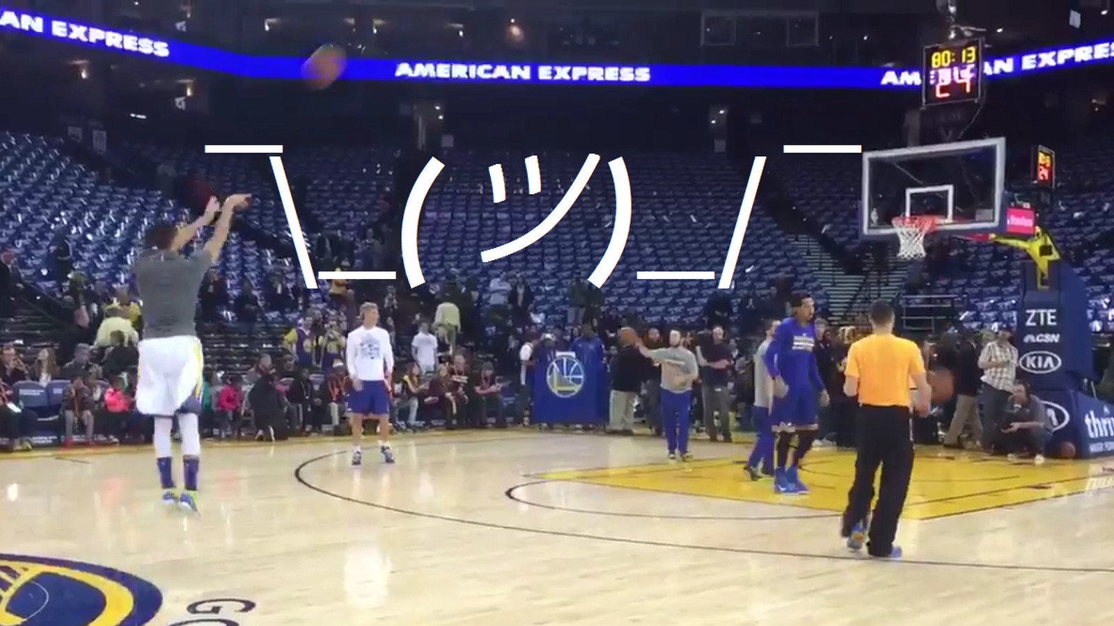 Stephen Curry Is Hitting Shots From The Logo And We Don T