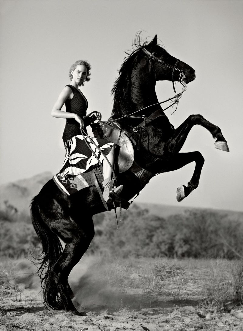 Jennifer Lawrence on a horse
