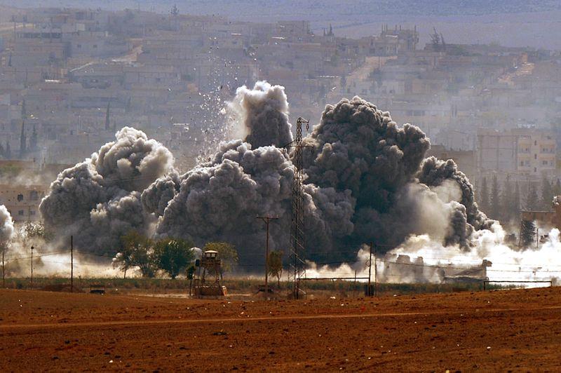 airstrike kobane (Kutluhan Cucel/Getty Images)