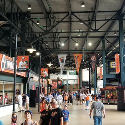 The concourse is bright and airy