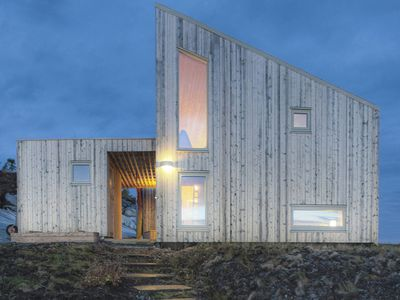 Dreamy seaside cottage in Norway was built from trees on site