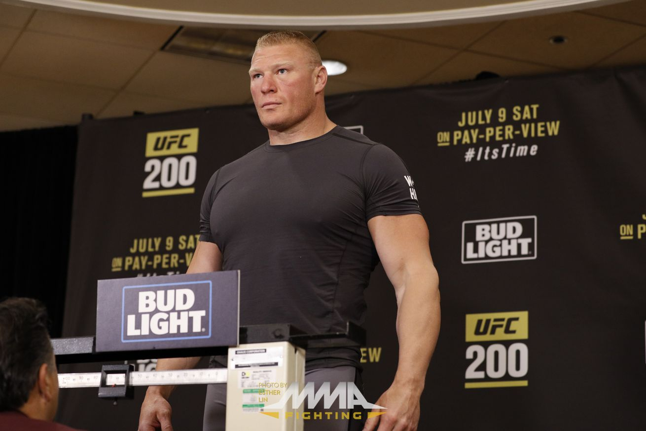 Brock Lesnar also failed in competition drug test at UFC 200