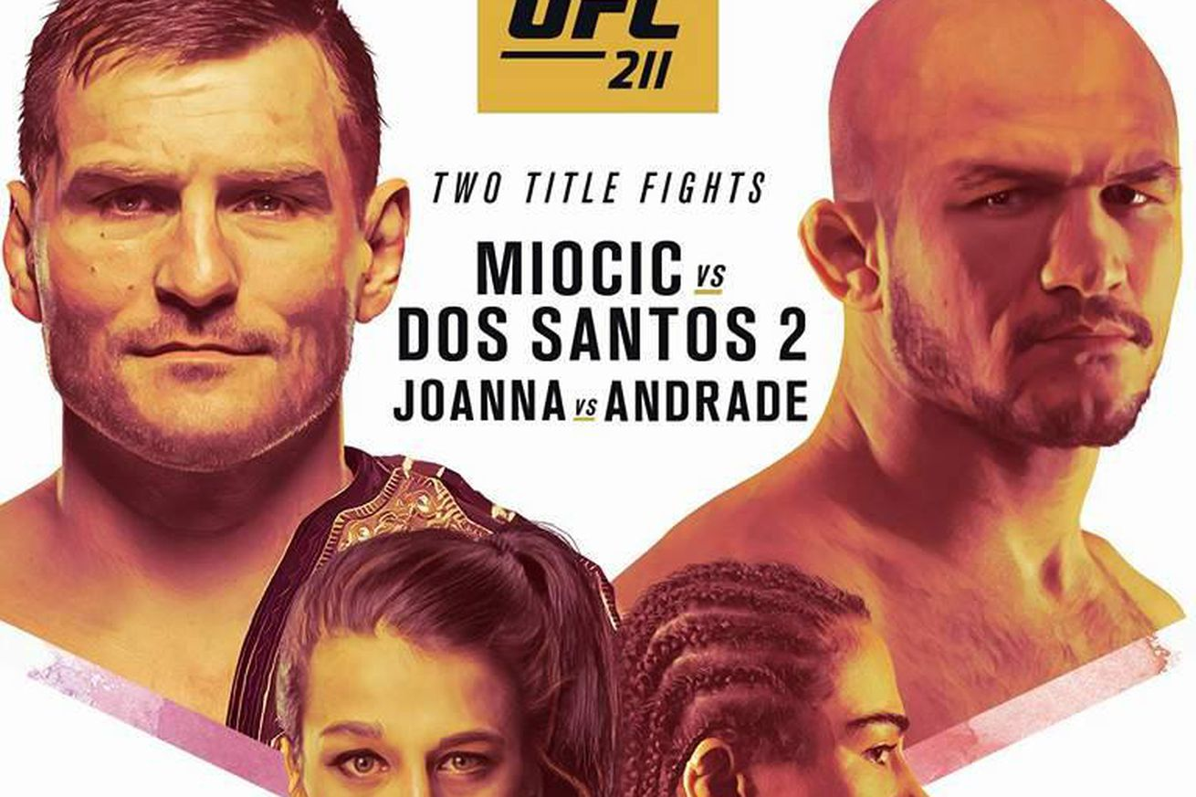 Pic: UFC 211 official event poster revealed for Miocic vs. Dos Santos 2 on May 13 in Dallas