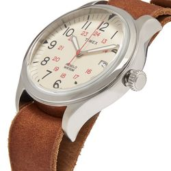 """A classic gift, a classic watch: Timex <a href=""""https://www.mrporter.com/en-us/mens/timex/waterbury-united-stainless-steel-and-leather-watch/942160?ppv=2#"""">Waterbury United Stainless Steel and Leather Watch</a> ($120)"""