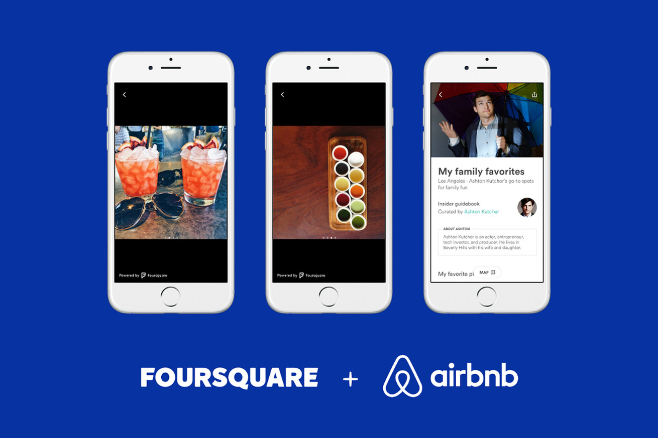 airbnb will now use foursquare photos in its city guides