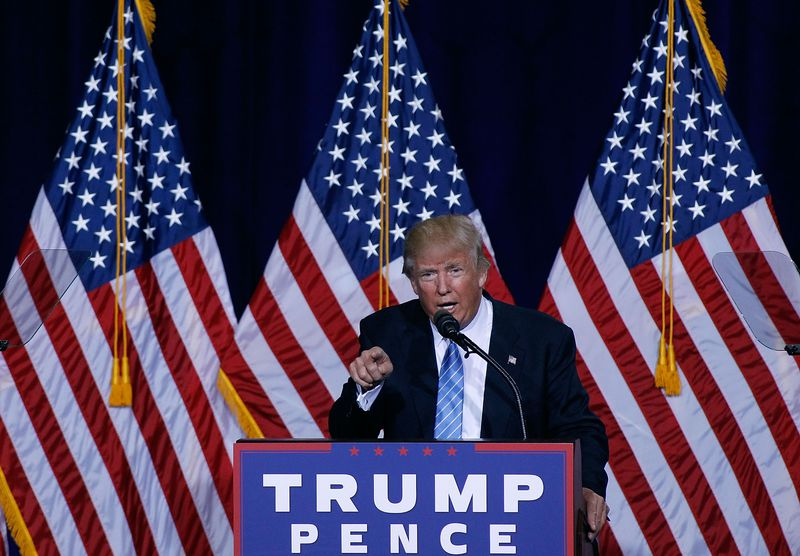 Donald Trump Speaks On Immigration At Rally In Phoenix