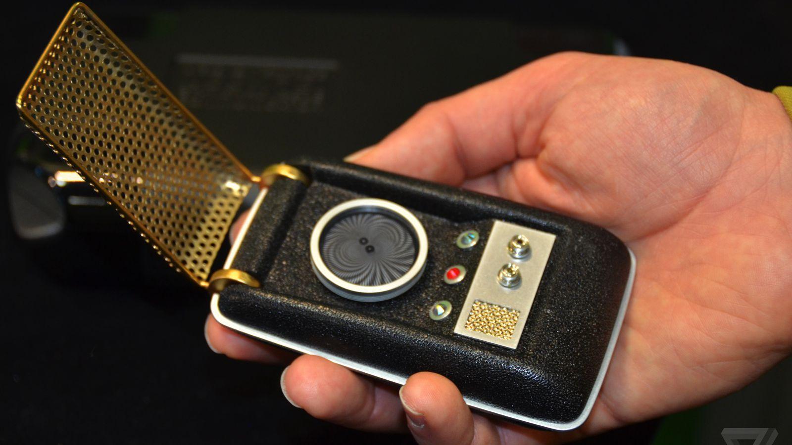 Holding a real Star Trek Communicator makes you feel like ...