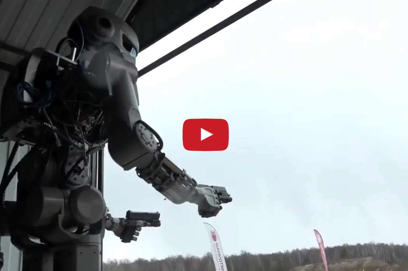 community news, Video: Russia creates gun wielding murder bot, names it FEDOR