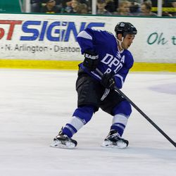 DPD officer Carlos De La Fuenta was one of the organizers of the inaugural Dallas Strong Hockey charity game that drew 1,000 spectators on Saturday evening.