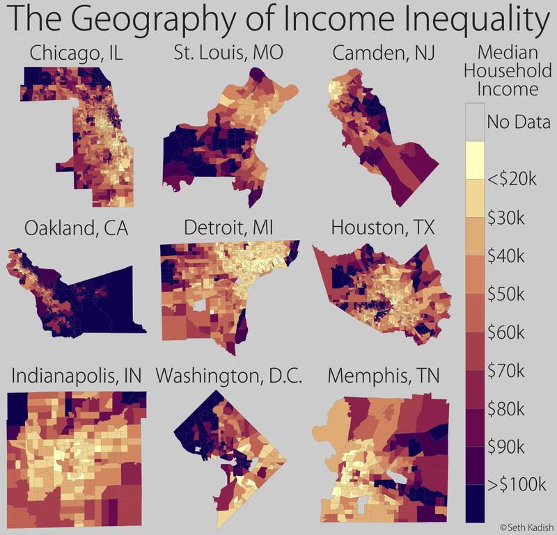 Geography of income inequality