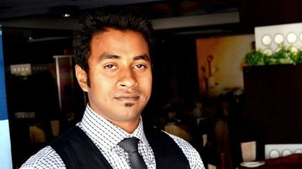 Slain secular writer Nazimuddin Samad.