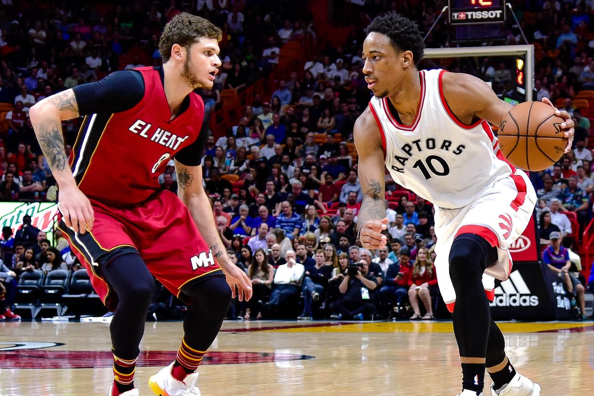 DeRozan gets 40, Raptors rally again to beat Heat 101-84
