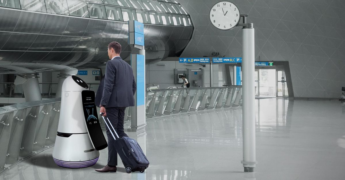 LG's New Airport Robots will Guide You to your Gate and Clean up your Trash