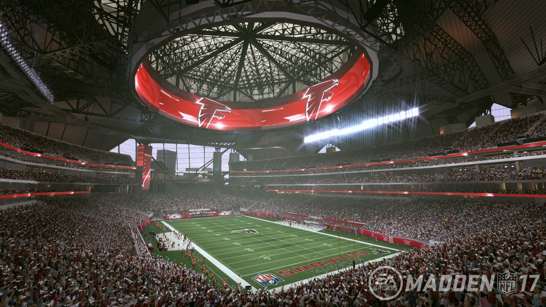 Tour the nfl 39 s newest stadium with madden nfl 17 polygon for Mercedes benz stadium season tickets