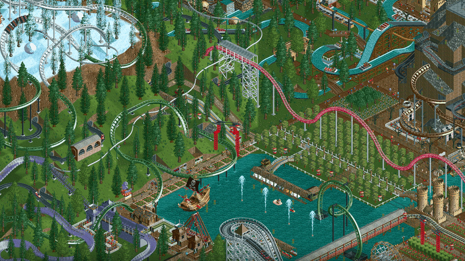 Rollercoaster Tycoon  Build High