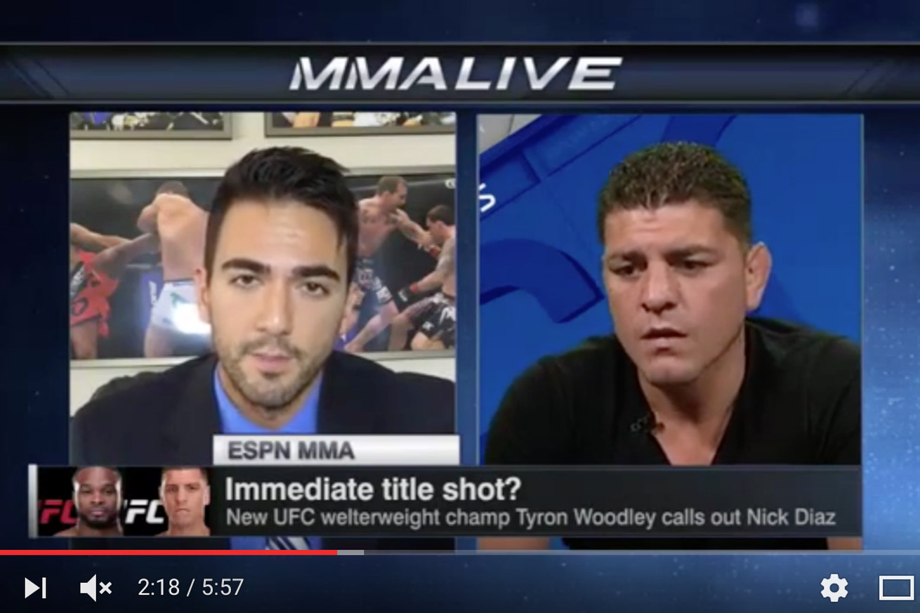 Nick Diaz: Somebody drugged me before Georges St Pierre fight (Video)