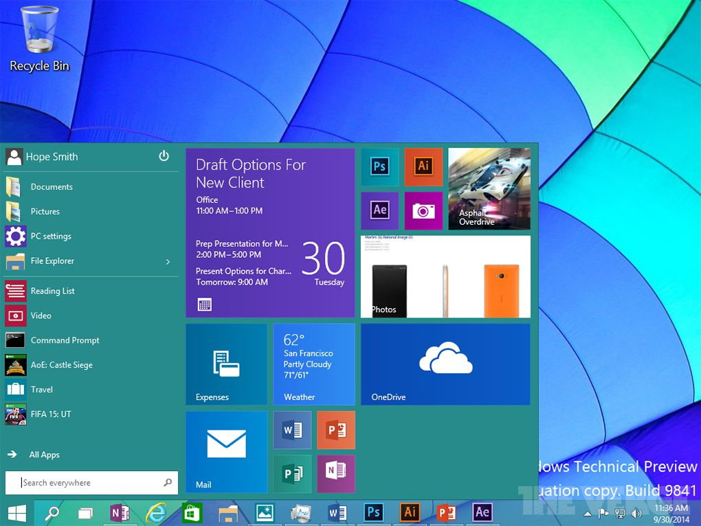 Windows 10 screenshots the verge