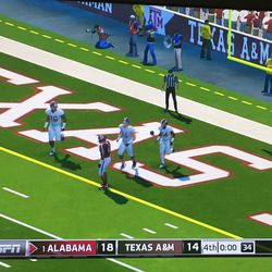 The aftermath of Bama scoring on the last play of the game. I hate everything to a new extent.