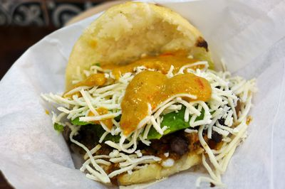 """Frida Khalo"" arepa from Arepa Factory"